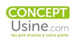 Bon plan Concept Usine : codes promo, offres de cashback et promotion pour vos achats chez Concept Usine